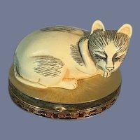 Vintage Estee Lauder Cat Compact Miniature Dollhouse Sweet