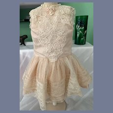 Vintage Doll Lace Overlay Dress French Market