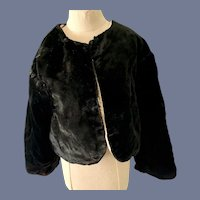 Antique Doll Black Velvet Jacket Shawl Fashion Doll