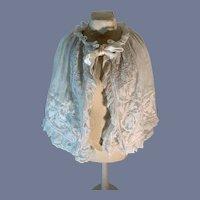 Antique French Lace Fashion Doll Shawl Grogeous