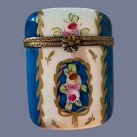 Antique Limoges Box Hinged Unusual Shape Cigarette Case? Signed Decor Main  Limoges L.D.