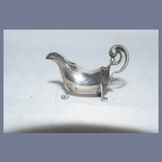Old Miniature Sterling Silver Ornate Pitcher Dollhouse