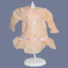 Vintage Petite Doll Dress Drop Waist Mignonette Size Lace Bows