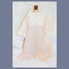 Vintage Doll Dress Lace Sweet