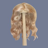 Old French Doll Wig W/ Pate Blonde