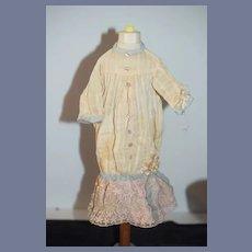 Antique Doll Dress Drop Waist Lace French Market