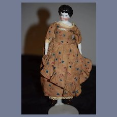Antique Doll China Head Petite Size Dressed