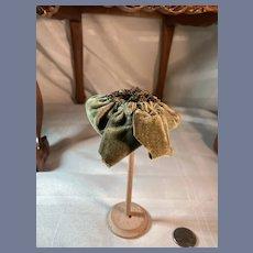 Old Doll Bonnet Gold Metal Thread Fashion Doll Gorgeous
