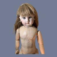 Vintage Doll Wig Long Hair W/ Bangs