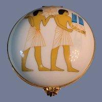 Wonderful Egyptian Trinket Hinged Box Bernardaud Wonderful