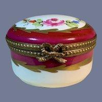 Beautiful Limoges Hinged Box Porcelain Dumont France