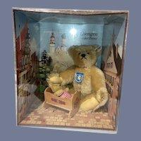 Vintage Steiff Bear Bears in Original Box Giengen-Brenz Two Bears and Cradle