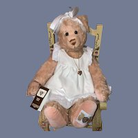 Sweet Vintage Teddy Bear Jointed Mohair House of Nisbet W/ String Tag Celebrity Collection Maybe Bear Yes No Bear Carol Lynn Rossel Waugh