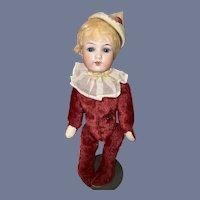 Wonderful Antique Bisque Head Artist Made Teddy Bear Mohair