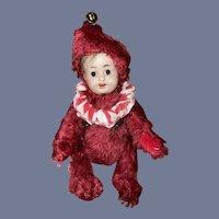 Antique Bisque Doll Head Mohair Teddy Bear German