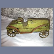 Old Pressed Steel Hill Climber Car Unique Toy