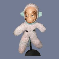 Vintage Mask Face Monkey Terry Cloth Body Sweet Cloth Doll