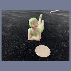 Sweet Old Bathing Beauty Doll Figurine Miniature German
