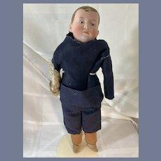 Antique Doll Gebruder Heubach Flocked Hair Intaglio Eyes Bisque