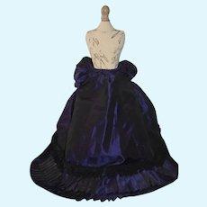 Vintage Doll Dress Fashion Doll Skirt Taffeta W/ Bustle