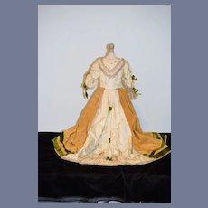 Old Doll Dress Fashion Doll FAB. Gorgeous Beading & Fancy Trim