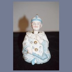 Antique All Bisque Jester Character Nodder Charming Doll Figurine