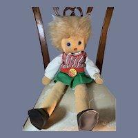 """Steiff """"Jenny"""" Doll Cloth Dolll Sweet W/ Tag Original Clothes"""