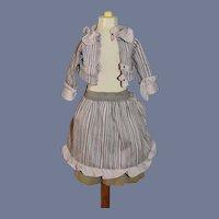 Vintage Sweet Petite Fashion Doll Dress Two Piece Set W/ Bustle