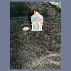 Vintage Doll Dollhouse Miniature Artist Signed Dollhouse for Dollhouse Signed EM