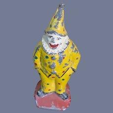 Old Cast Iron Clown Jester Metal Miniature Dollhouse