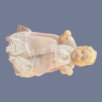 Vintage Miniature Artist Doll Jointed Dressed Dollhouse Baby Sweet