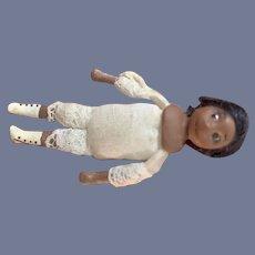 Wonderful Miniature Black Doll Artist Dollhouse