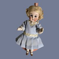 """Antique Doll All Bisque Heubach 6343  6 1/2"""" Tall Miniature Dollhouse Petite Jointed"""