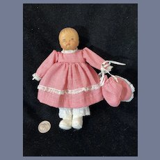 Wood Doll By June Beckett Signed Dated Vintage Artist A LiL Kid