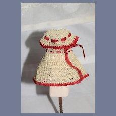 Old Doll Crochet Miniature Dress Sweet