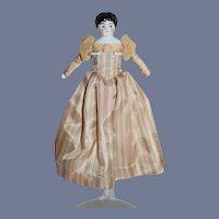 Antique Doll China Head Dollhouse Lady Doll