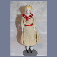 Antique Doll China Head Doll Petite Size Antique Clothing
