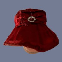 Old Doll Bonnet High Brim Fancy Buckle and Bow French Market