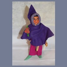 Old Unusual Sculpted and Cloth Doll Romeo Character Charming