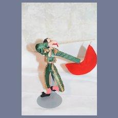 Vintage Cloth Doll Bull Fighter Klumpe Spansih