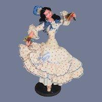 Vintage Doll Fancy Spanish Dancer Cloth Doll
