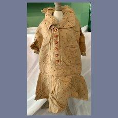 Antique Doll Dress Pattern Drop Waist Buttons