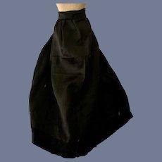 Wonderful Old Doll Skirt Black Fancy Lace Trim Fashion Doll