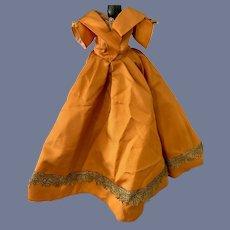 Wonderful Doll Dress Taffeta Gold Thread Trim Fashion Doll