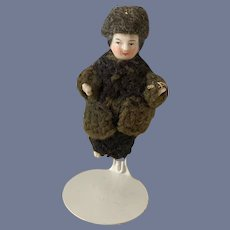 Antique Doll Frozen Charlotte Miniature Dressed Unusual