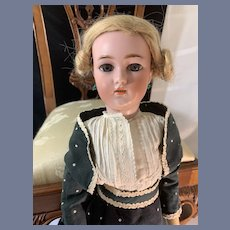 """Antique Doll Simon & Halbig Lady Doll 1159 Beautiful 20"""" Tall Bisque Head"""
