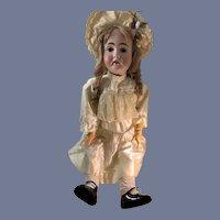 """Antique Bisque Doll Kestner 142 HUGE 34"""" Tall Dressed Charming Doll"""