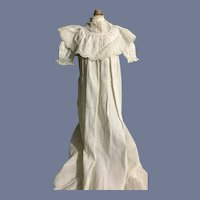 Antique Doll Christening Gown Wonderful Lace Embroidery