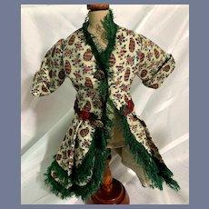 Vintage Doll Fashion Doll Top Jacket Fringe Fancy Button Hooks
