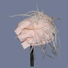 Sweet Fancy Doll Bonnet Hat W/ Bows and Feathers Fashion Doll